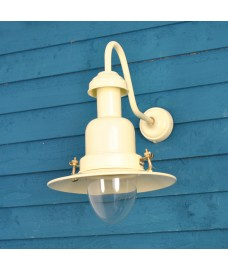 Fishing Indoor or Outdoor Light Wall Lamp in Cream by Garden Trading