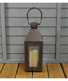 Edison Flicker Flame Candle Lantern by Gardman