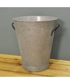 Aged Zinc Tall Planter by Rustic Garden