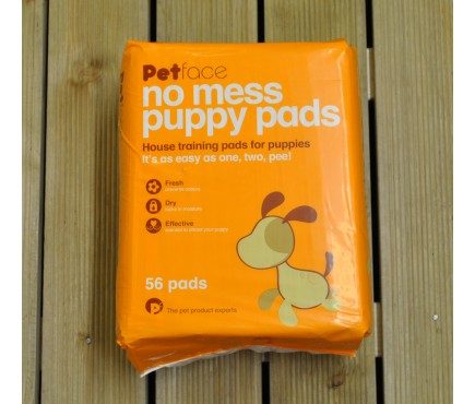No Mess Puppy Training Pads Pack of 56 by Petface