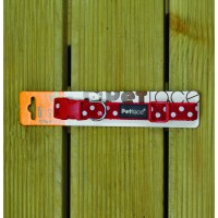Red Dots Dog Collar Small Size by Petface