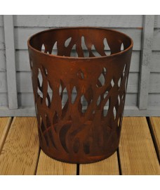 Weathered Flame Effect Metal Fire Bowl by Fallen Fruits