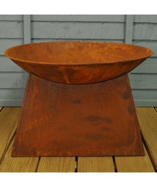 Weathered Metal Fire Bowl by Fallen Fruits