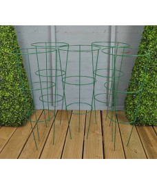 Pack of 5 Conical Garden Plant Support Rings (75cm)