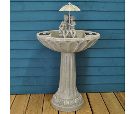 Umbrella Fountain Outdoor Water Feature (Solar) by Smart Solar