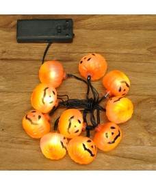 10 LED Halloween Pumpkin Design String Lights (Battery) by Premier