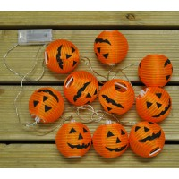 10 LED Halloween Pumpkin String Lanterns (Battery) by Smart Garden