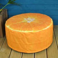 Outdoor Pouffe Garden Seat Orange Design by Fallen Fruits