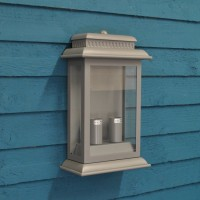 Belvedere Wall Light in Charcoal (Mains) by Garden Trading