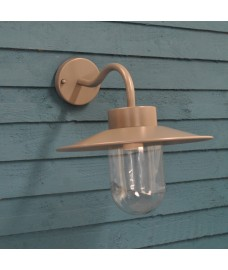 St Ives Swan Neck Wall Light in Carcoal (Mains) by Garden Trading
