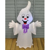 Inflatable Happy Ghost with Lights Halloween Decoration