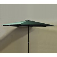 Pre-Lit Parasol (Solar Powered) in Green by Kingfisher
