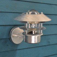 Galvanised St Ives Strand Light (Mains) by Garden Trading