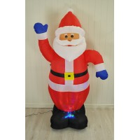 Inflatable Santa with Light Show (180cm) by Westwoods