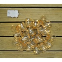20 LED Glass Jar String Lights (Battery) by Kingfisher