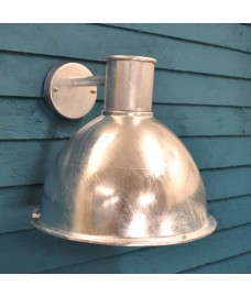 Galvanised St Ives Bay Wall Light (Mains) by Garden Trading