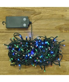 200 LED Multi Coloured (Battery) String Lights by Premier