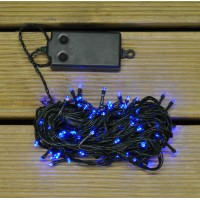 100 LED Blue Timer Function String Lights (Battery) by Premier