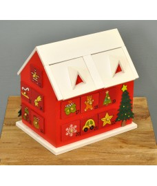 Wooden Gingerbread House Advent Calendar by Premier