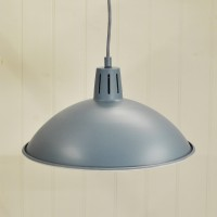 Battersea Pendant Ceiling Light in Dorset Blue by Garden Trading