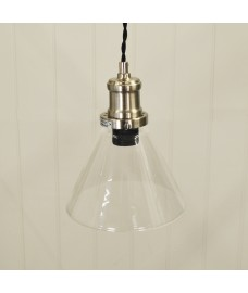 Hoxton Cone Glass Pendant Light by Garden Trading