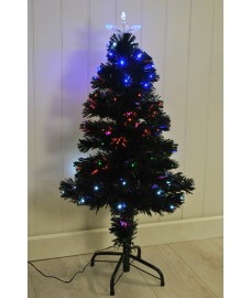 90cm LED & Fibre Optic Artificial Green Christmas Tree by Transcontinental