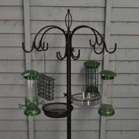 Complete Bird Feeder Dining Station With Feeders by Chapelwood