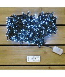 960 LED White Nite Light String Lights with Remote Control (Mains) by Premier