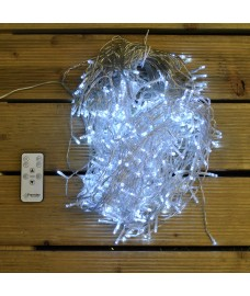 480 LED White Icicle Nite Light String Lights with Remote Control (Mains) by Premier
