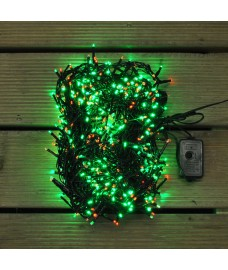 720 Green and Red LED Christmas Supabrights Cluster Lights by Premier