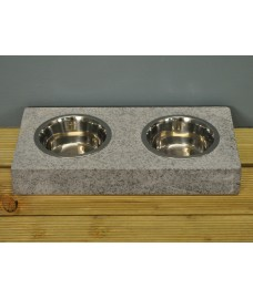 Granite Cat & Dog Pet Bowl Set by Garden Trading