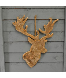 Hanging Birch Reindeer Plaque (Large)