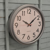 Large Smithfield Indoor Wall Clock in Charcoal Grey