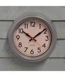 Small Smithfield Indoor Wall Clock in Charcoal Grey