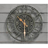 Newby Verdigris Wall Clock (30cm) by Smart Garden