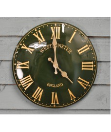 Westminster Classic Wall Clock In Green (30cm) by Smart Garden