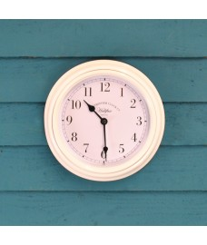 Halifax Indoor Wall Clock in White (22cm) by Smart Solar