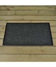 Anthracite Striped Rubber Backed Doormat by Smart Solar