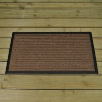 Chestnut Striped Rubber Backed Doormat by Smart Solar