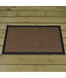 Chestnut Patterned Rubber Backed Doormat by Smart Solar