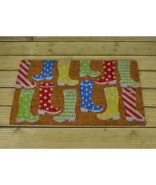 Wacky Wellies Design Coir Doormat by Smart Solar