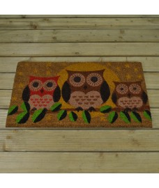 Hooters Owl Design Coir Doormat by Smart Solar