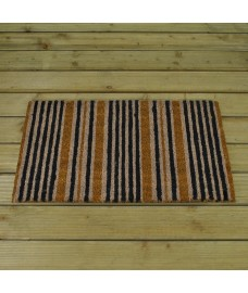 Snazzy Stripes Design Coir Doormat by Smart Solar
