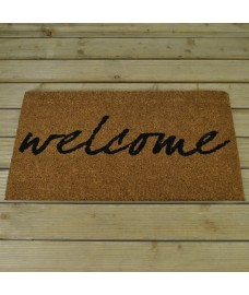 Welcome Design Coir Doormat by Smart Solar