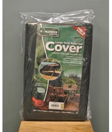Large Oval Patio Furniture Set Cover by Kingfisher