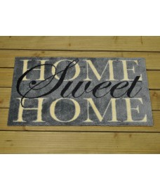 Home Sweet Home Ritzy PVC Backed Doormat by Smart Solar