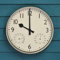 Academy Wall Clock & Thermometer (30cm) by Gardman