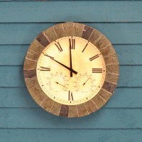 Salisbury Wall Clock & Thermometer (35cm) by Gardman