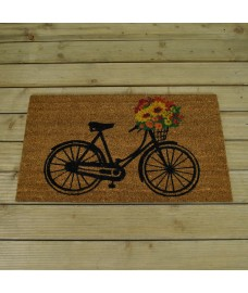 Floral Bicycle Design Coir Doormat by Gardman