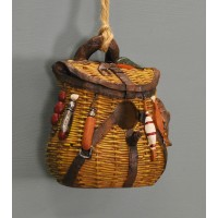 Fishing Bag Style Bird Nesting House by Kingfisher